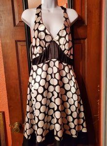 Connection Black/white with big pokodot dress